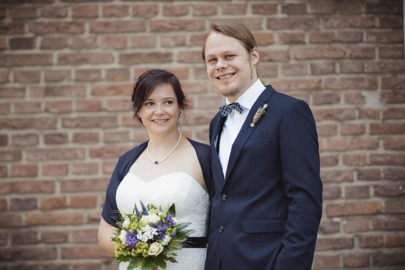 Hochzeitsfoto Brautpaar in Münster