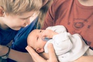 Neugeboren Fotos zu Hause vom Fotografen