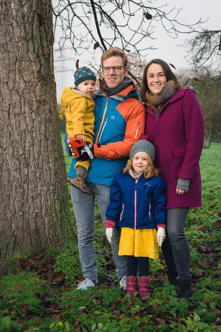 Familienfotos mit Fotos vom Fotografen