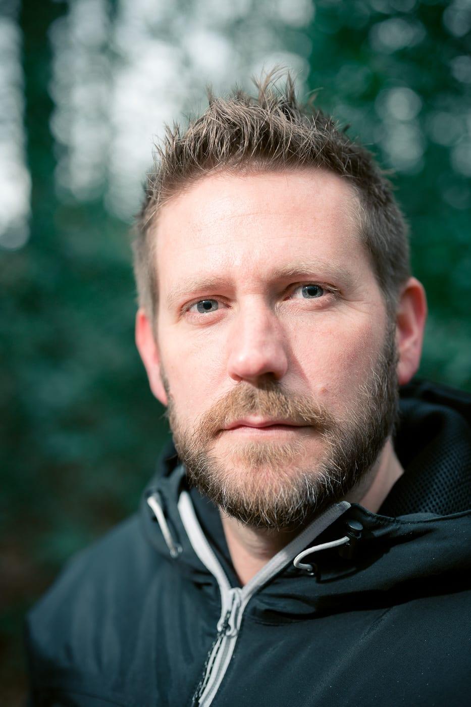 Headshot Porträt Foto von Mann on Location in Münster